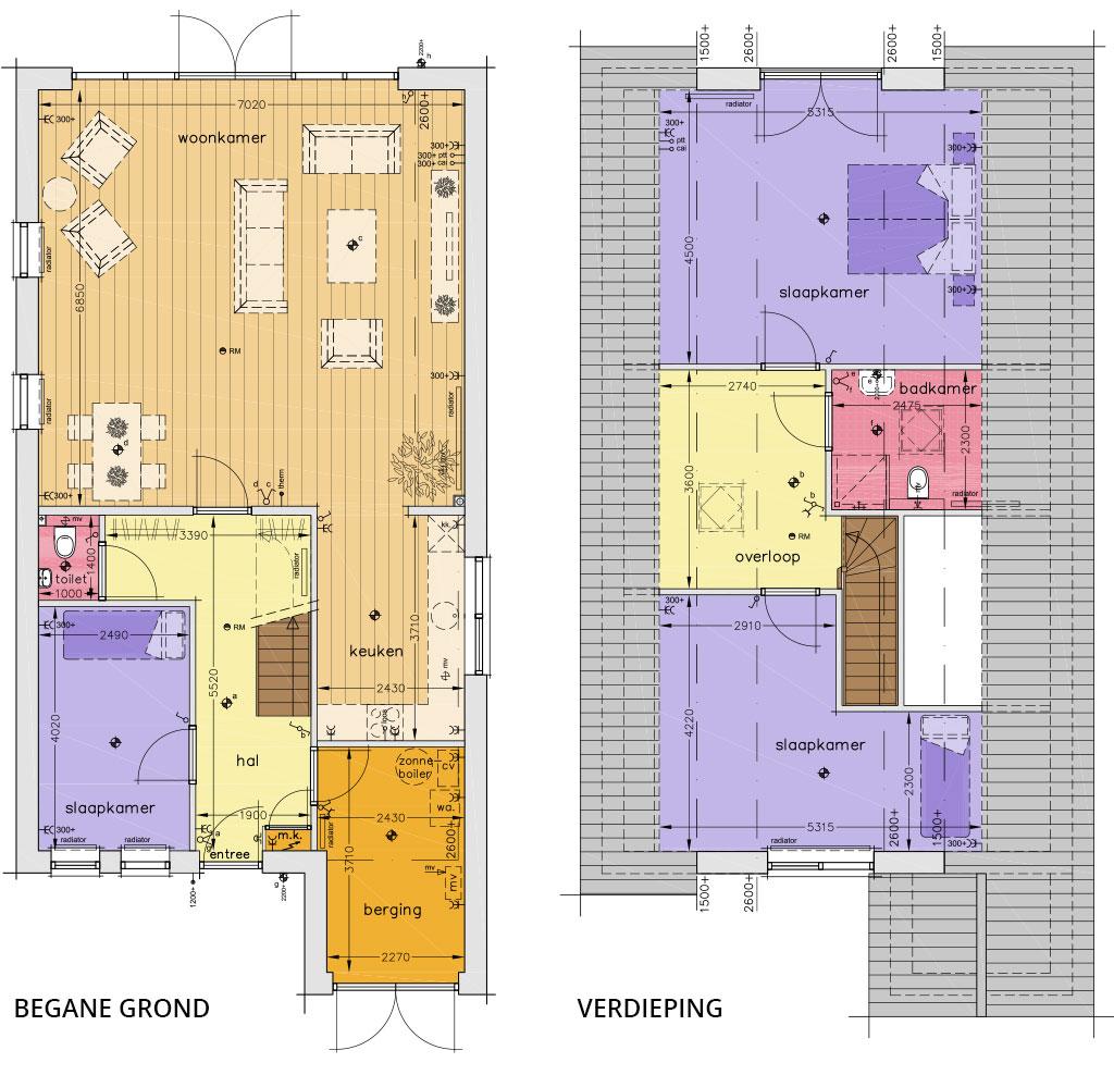 nieuwbouw-eensgezinswoning-plattegrond